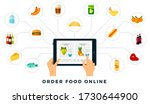 adding products to order online ...   Shutterstock .eps vector #1730644900