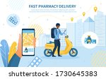 fast pharmacy delivery concept...   Shutterstock .eps vector #1730645383