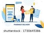 online pharmacy delivery... | Shutterstock .eps vector #1730645386