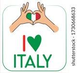 I Love Italy With Flag  Heart...