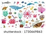 big set of coral reef with... | Shutterstock .eps vector #1730669863