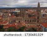 Cathedral of Santa Maria, Burgos, Castilla, Spain (panoramic view of the historic city of Burgos)
