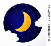 moon background | Shutterstock .eps vector #173069489