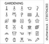 simple gardening line style... | Shutterstock .eps vector #1730706283