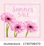 summer sale background with... | Shutterstock .eps vector #1730708470