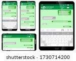 set of blank template messaging ... | Shutterstock .eps vector #1730714200