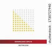 star icon vector. ten rating...