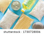 Set Of Grocery Items From Pasta ...