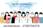 new normal after covid 19... | Shutterstock .eps vector #1730734276