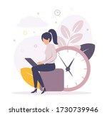 time management. illustration... | Shutterstock .eps vector #1730739946