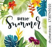hello summer calligraphy...   Shutterstock .eps vector #1730745010