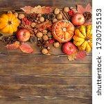 Autumn Composition. Pumpkins ...