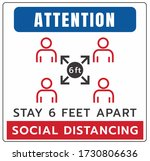 stay 6 feet apart keep your... | Shutterstock .eps vector #1730806636