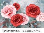 3d Illustration Modern Floral...