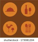 menu design over  brown... | Shutterstock .eps vector #173081204