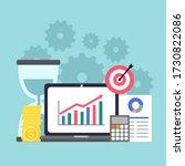 return on investment roi... | Shutterstock .eps vector #1730822086