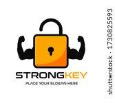 strong key vector logo template.... | Shutterstock .eps vector #1730825593