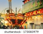 scene at a classic carnival... | Shutterstock . vector #173083979