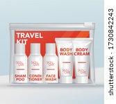 vector travel mini tubes  ... | Shutterstock .eps vector #1730842243