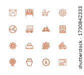 editable 16 wheel icons for web ... | Shutterstock .eps vector #1730842333