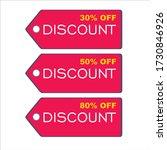 discount 50  off  discount 30 ... | Shutterstock .eps vector #1730846926