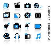 multimedia icons   Shutterstock .eps vector #17308546