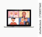 template of video conference... | Shutterstock .eps vector #1730857660
