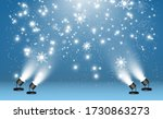 snowfall. a lot of snow on a... | Shutterstock .eps vector #1730863273
