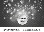 snowfall. a lot of snow on a... | Shutterstock .eps vector #1730863276