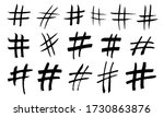 hand drawn hashtag collection....   Shutterstock .eps vector #1730863876