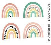 kids room poster baby girl with ... | Shutterstock .eps vector #1730871706