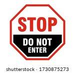 stop do not enter sign  stop do ...   Shutterstock .eps vector #1730875273