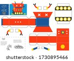 cut and glue robot toy vector... | Shutterstock .eps vector #1730895466