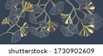 luxury gold ginkgo line arts... | Shutterstock .eps vector #1730902609