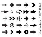 set of black arrows on white... | Shutterstock . vector #1730913466