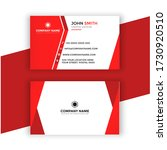 red business card template... | Shutterstock . vector #1730920510