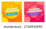 set of important announcement... | Shutterstock .eps vector #1730920990