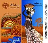 beautiful black woman.african...   Shutterstock .eps vector #173092400