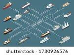 ships fleet isometric... | Shutterstock .eps vector #1730926576