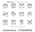 simple set of medical gloves.... | Shutterstock .eps vector #1730938906