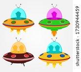 Alien Ship Cartoon Vector...