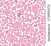 abstract background of hearts.... | Shutterstock . vector #173095373