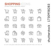 collection of shopping related... | Shutterstock .eps vector #1730958283