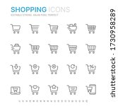 collection of shopping related... | Shutterstock .eps vector #1730958289