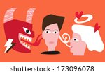 abstract,angel,cartoon,character,choice,conflict,demon,devil,draw,ear,evil,fun,good,head,human