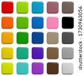 web buttons sqaure shape design ...   Shutterstock . vector #1730963056