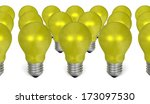 group of yellow reflective... | Shutterstock . vector #173097530