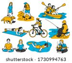 various activities people... | Shutterstock .eps vector #1730994763