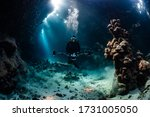 Typical Underwater Cave In A...
