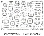 calligraphic design elements .... | Shutterstock .eps vector #1731009289